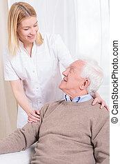 caregiver, giovane, utile