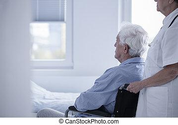 caregiver, steunen, ziek, patiënt