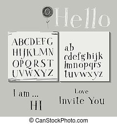 Lettering - Careless style hand-drawing. Hand drawing...