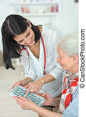 carer, expliquer, comment, médicament, est, organisé