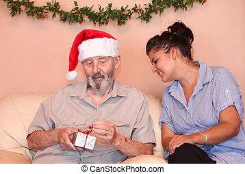 carer or nurse with senior
