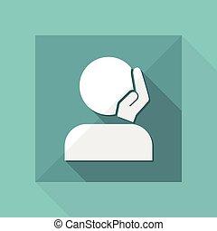 Caressing gesture - Vector minimal icon