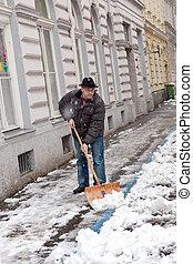 Caretaker admits sidewalk of snow