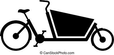 carga, bicicleta