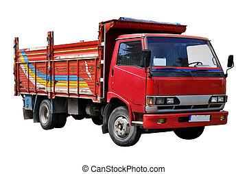 carga, camión viejo