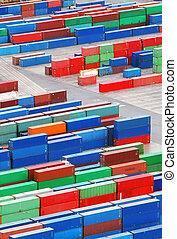 carga, contenedor, puerto