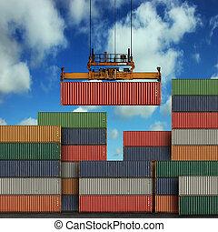 carga, contenedores