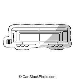 carga, corte, linha trem, locomotiva, transporte