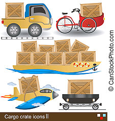 carga, crate, ícones