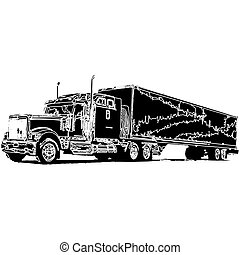 carga, entrega, veículo
