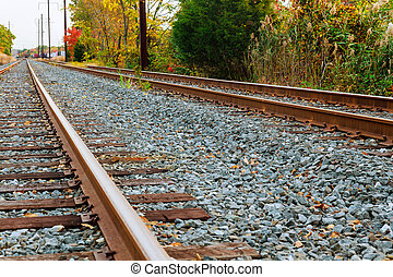 carga, ferrocarril, tren, escena