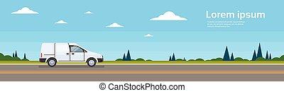 carga, furgão, car, comercial, despacho, entrega, estrada