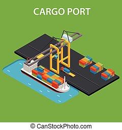 carga, isometric, porto