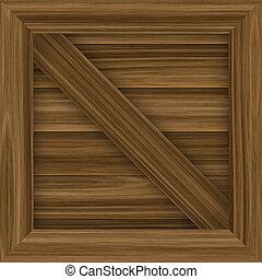 carga, madera, cajón