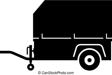 carga, reboque, utilidade