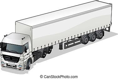 carga, semi-caminhão