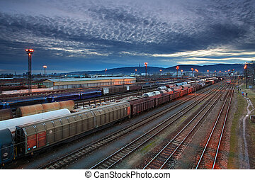 carga, trenes, ferrocarriles, transportatio