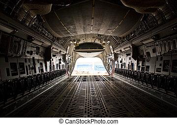 cargaison, airshow, farnborough, -, baie, c17, 2010