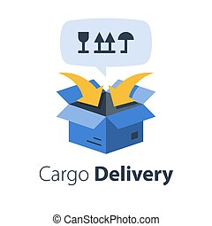 cargaison, distribution, fret, relocalisation, emballage, services, expédition, transport