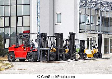 cargaison, forklifts
