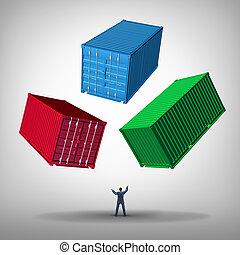 cargaison, gestion, fret