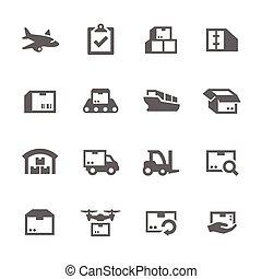 cargaison, icônes
