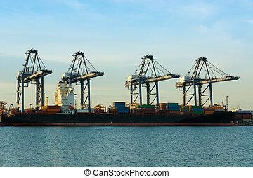 cargaison, industrie, growing., expédition, économie