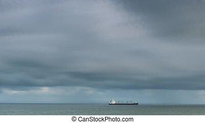 cargaison, industriel, ouvert, atlantique, bateau, -,...