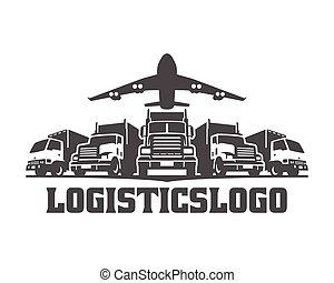 cargaison, logo, logistique, logo, camion, camions livraison