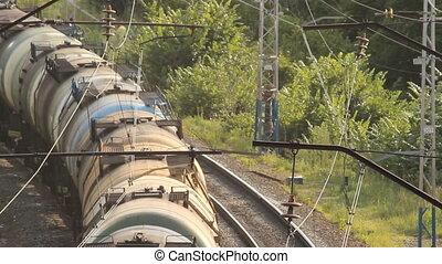 cargaison, train., fret