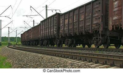 cargaison, train.