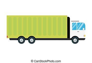cargaison, transport, expédition, business, voiture, illustration, camionnage, livraison, vecteur, transport camion, logistique, véhicule, fourgon, fret, caravane