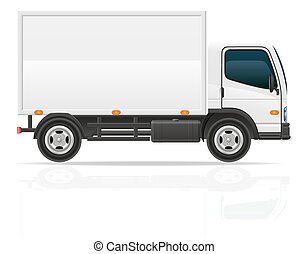 cargaison, transport, illustration, vecteur, camion, petit