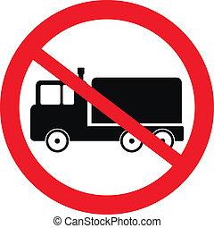 cargaison, voiture, non, panneaux signalisations