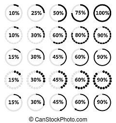 cargamaento, conjunto, illustration., vector, barra, circular
