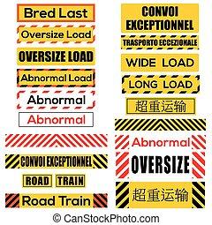 cargamaento, símbolos, vario, descomunal, señales