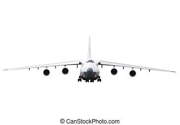 cargo aircraft is landing