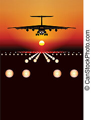cargo airplane. Available EPS-8 vector format separated by groups and layers for easy edit