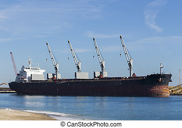 cargo, bateau, port