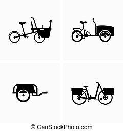 Cargo bikes and foldable luggage trailers