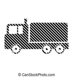 Cargo car sign. - Cargo car sign on white background. Vector...