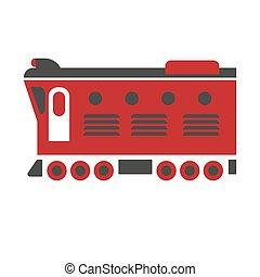 Cargo carriage locomotive icon isolated on white background