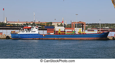 cargo, chargement, commerce, port