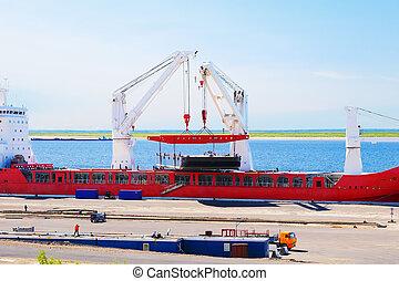 cargo, chargement, port
