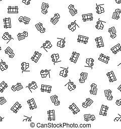 Cargo Commercial Logistics Seamless Pattern Vector