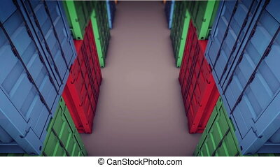 """Cargo Container"" - ""Cargo Container. Top view."""