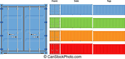 Cargo container - cargo container vector illustration...