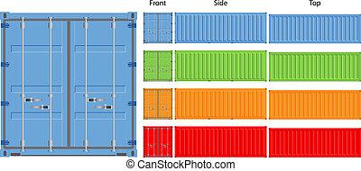 Cargo container - cargo container vector illustration ...