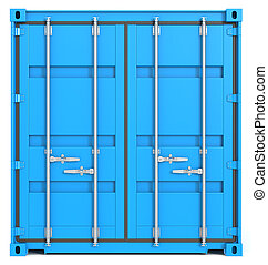Cargo Container Front, Closed.