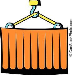 Cargo container icon cartoon